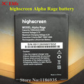 10pcs/lot Highscreen Alpha Rage Smart Phone Battery 1500mAh 3.7V