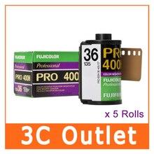 5 рулонов x Fujifilm Fujicolor Professional PRO 400H 135 цветная отрицательная рулонная пленка, ISO 400 36 Exposures
