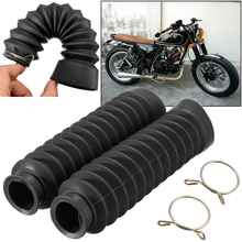 Youwinme 1 Pair Universal Motorcycle Rubber Front Fork Cover Shock Absorbing Protector Gaiters Boot Gaitor For Harley