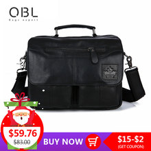 QiBoLu 2017 Cow Genuine Leather Handbag Men Messenger Shoulder Crossbody Bag Sacoche Homme Bolsa Masculina Bolso Hombre MBA70 oem 2015 sacoche homme masculina zp02110