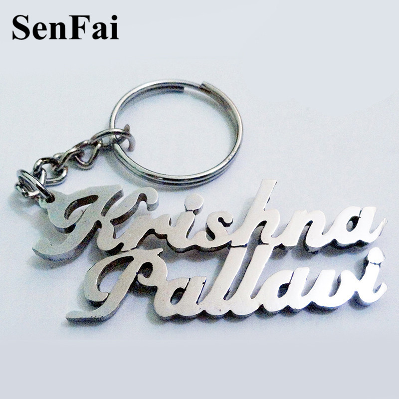 2018 Hot Custom Keychain For Women Men Special Gift Any Font Name Keychains Car Bag Charms Key Chain Ring Jewelry Accessories