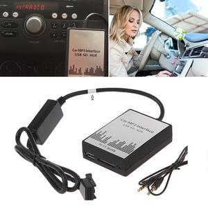 USB SD AUX Car MP3 Music CD Changer Audio Adapte For Peugeot 307 407 Citroen C4 C5