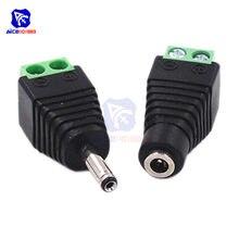 Diymore – connecteur de prise d'alimentation cc mâle femelle, 1 paire, 3.5x1.35mm, pour caméra CCTV, bande lumineuse LED