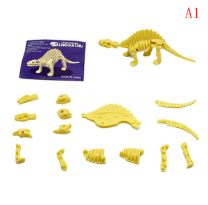 Creative funny Different Kinds Assembled Allosaurus Diplodocus Dinosaur Skeletons Model DIY Toys for Children Gift(China)