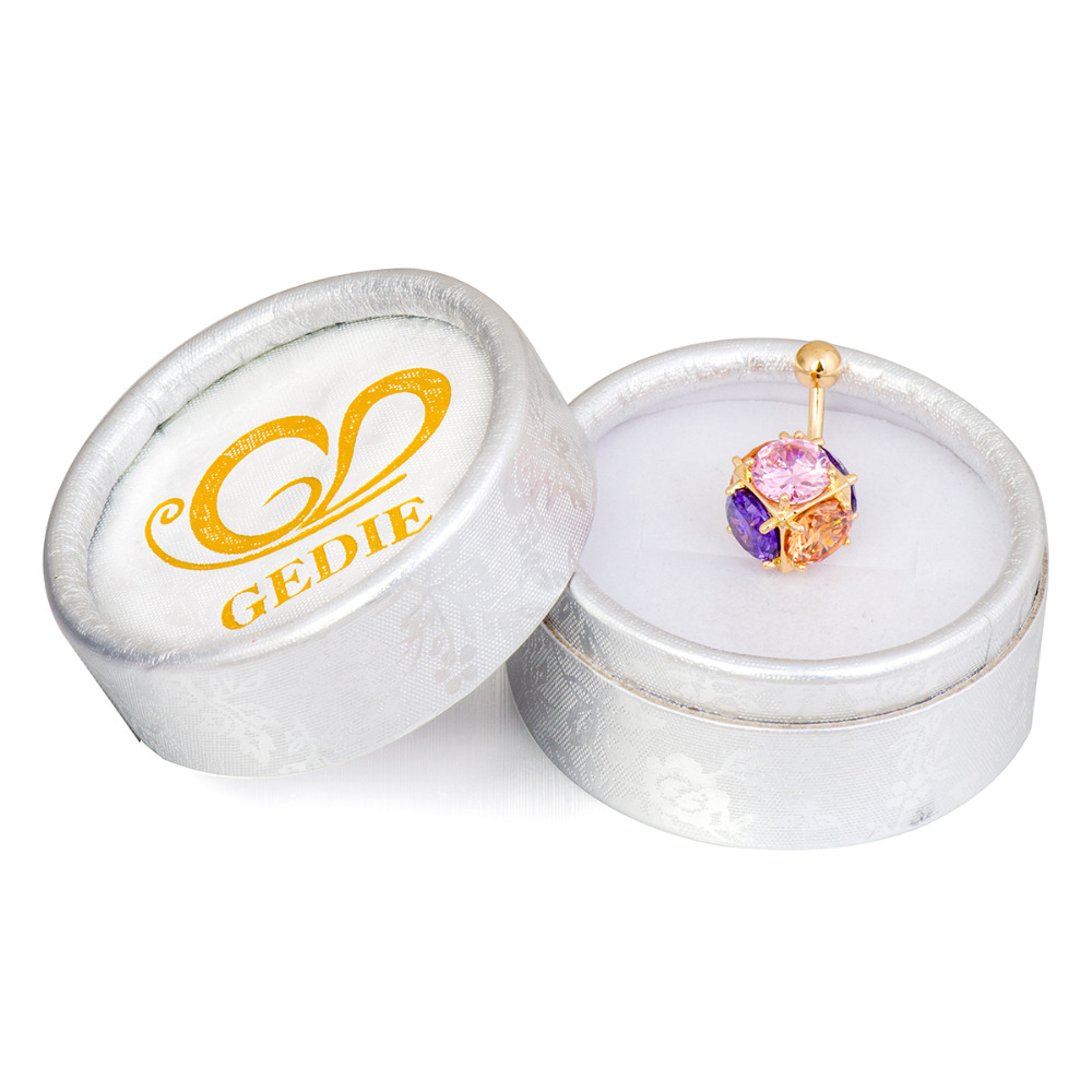 Gussiarro Magic Ball CZ Perhiasan Emas-warna Belly Button Rings - Perhiasan fashion - Foto 3