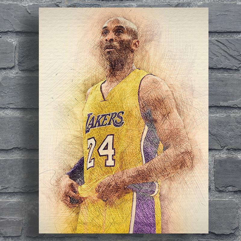 Kobe Bryant Poster Sports Prints Abstract Basketball Star
