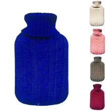 2000ml hot  Water bag cover Hot Water Bottle Knit Flannel Bags Super Soft Knitting bags without bottle only cover A5