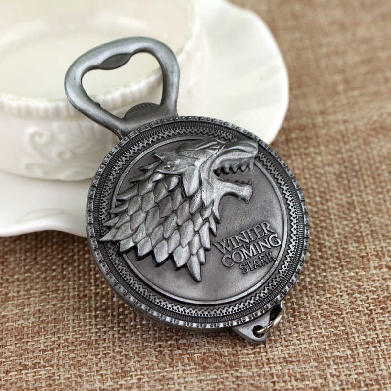 dongsheng Game of Thrones Keyring Bottle opener Keychain House Stark Key Ring Pendant Chaveiro Jewelry Accessories-50