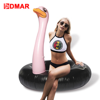 DMAR 120cm Inflatable Ostrich Giant Pool Float Swimming Ring Ride On Toy Sea Mattress Water Beach Party Adults Unicorn Donut