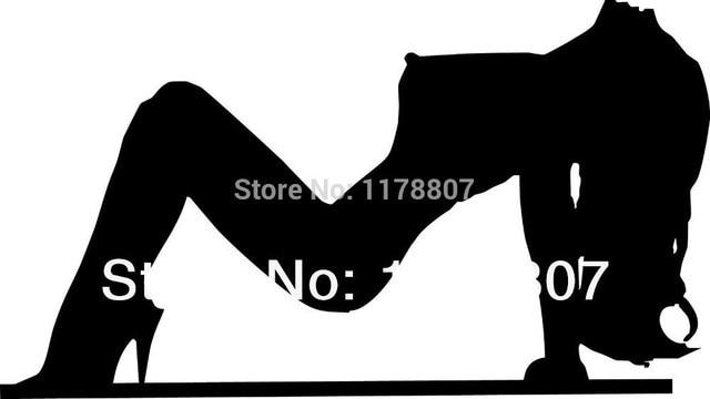 hotmeini 6x3 5 pouce sexy silhouette fille autocollant pour voiture pare brise arri re pare. Black Bedroom Furniture Sets. Home Design Ideas