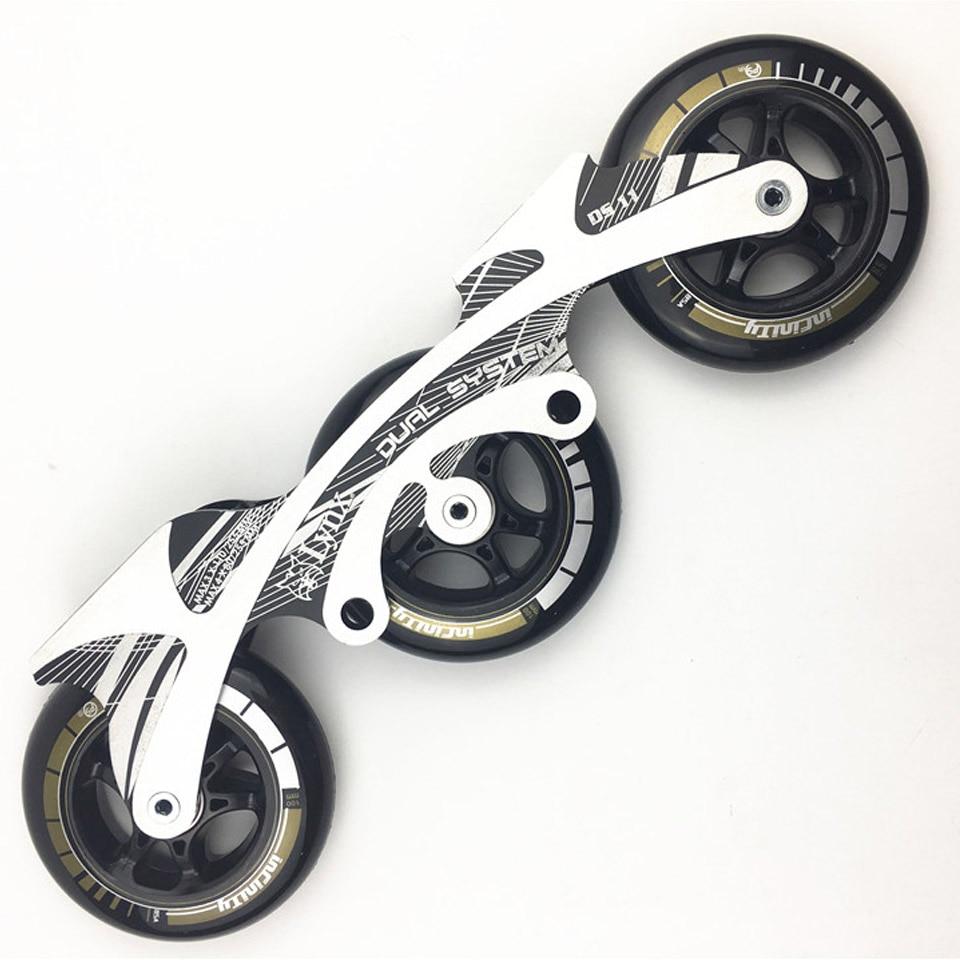 Speed Inline Skates Base 3 100 110mm Frame Wheels Roller Skating Basin ILQ 11 Bearing Durable
