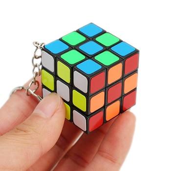 3cm Mini Keychain Cube Neo 3x3x3 Magic Anti-stress Toys Puzzles Speed Neo Cube Magico Educational Key Chain Toys For Children 1