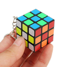 3cm Mini Keychain Cube Neo 3x3x3 Magic Anti-stress Toys Puzzles Speed Neo Cube Magico Educational Key Chain Toys For Children mini finger magic cube key chain
