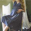 Summer Cotton Maternity  Striped Dress gravida Dresses Breast Clothes For Pregnant Women Maternidade Pregnancy