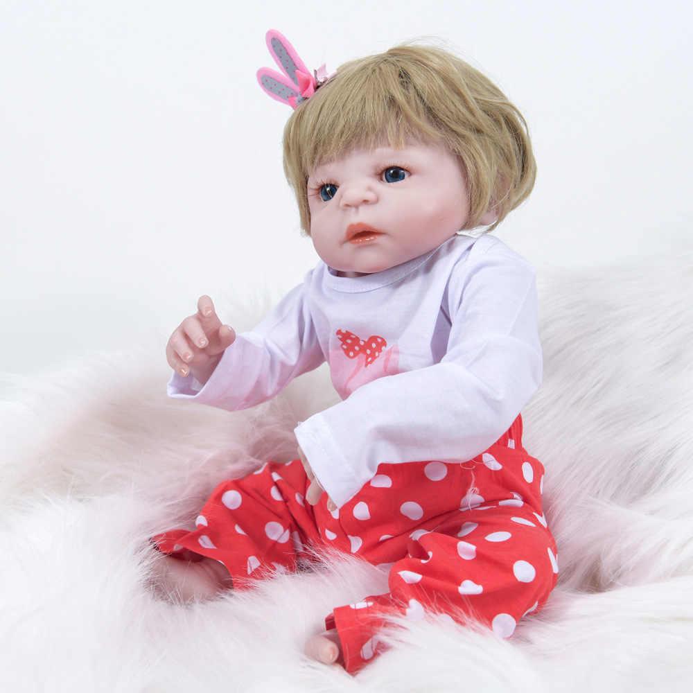 22 дюйма 55 см новые Тип развивающие Стиль детский приятель игрушки из черной кожи Полный Силиконовые Винил средства ухода за кожей Reborn Baby Doll детская живая кукла комплект