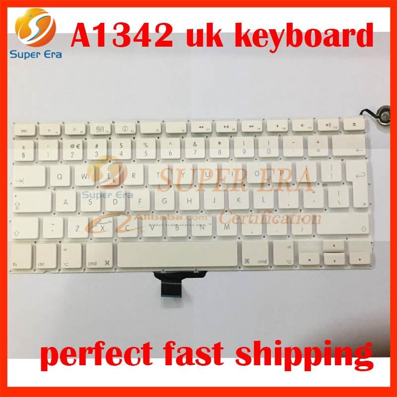 5pcs lot perfect testing A1342 UK keyboard for font b macbook b font 13 3 A1342