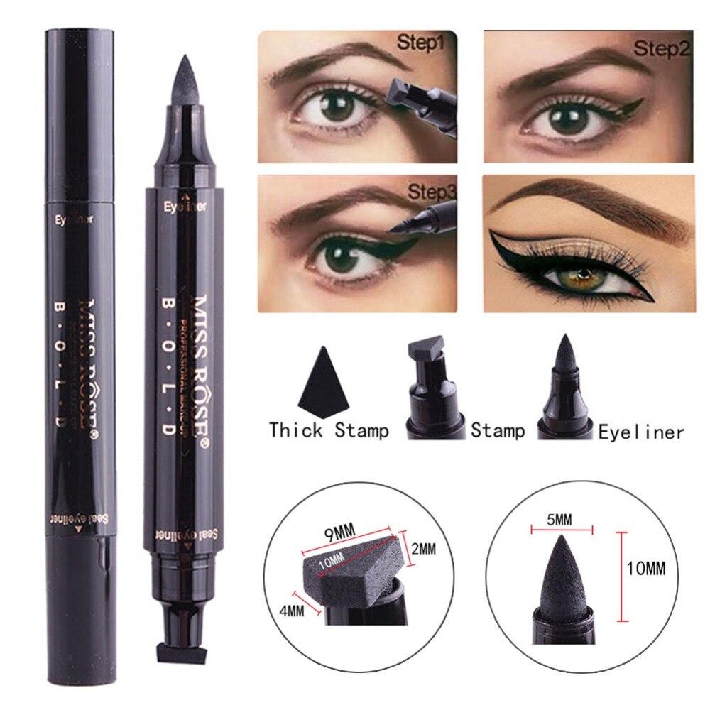 Eyeliner Able Miss Rose Brand Makeup Liquid Eyeliner Pencil Quick Dry Waterproof Black Eye Liner With Seal Stamp Beauty Eye Pencil #250047 Beauty Essentials