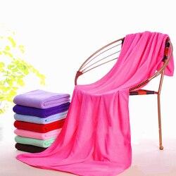 140*70cm plusieurs couleurs Supersoft Microfibre plage Microfibre serviette de bain serviette de sport Gym séchage rapide tissu Extra Large