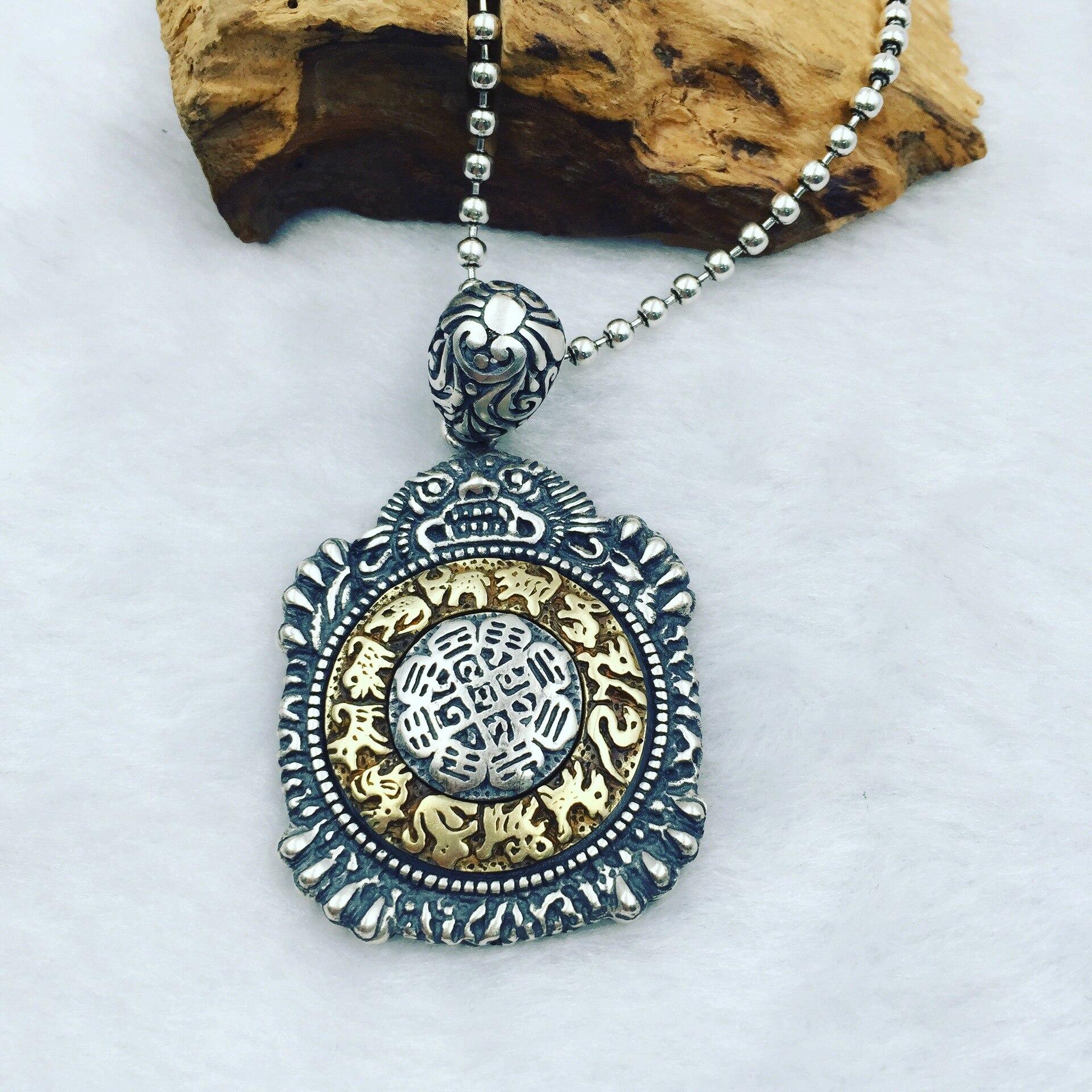 Здесь можно купить  2017 new silver Jiugong gossip pendant can be rotated  arge pendant  Ювелирные изделия и часы