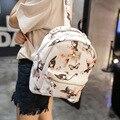 2016 Nova Moda Feminina Mochila PU Borboleta Impressão Mochila De Alta Qualidade Mochila Escolar Senhoras Sacos de Ombro Das Mulheres mochila