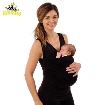 KAVKAS Family Baby Carrier Clothing Kangaroo T-Shirt for Father Mother with Baby Short Sleeve Big Pocket Tops Maternity Clothes