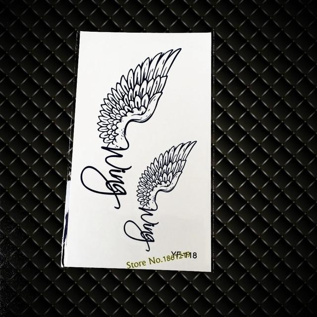 2015 Beliebte Wasser Transfer Tattoo Aufkleber Yf 118 Engel Flügel