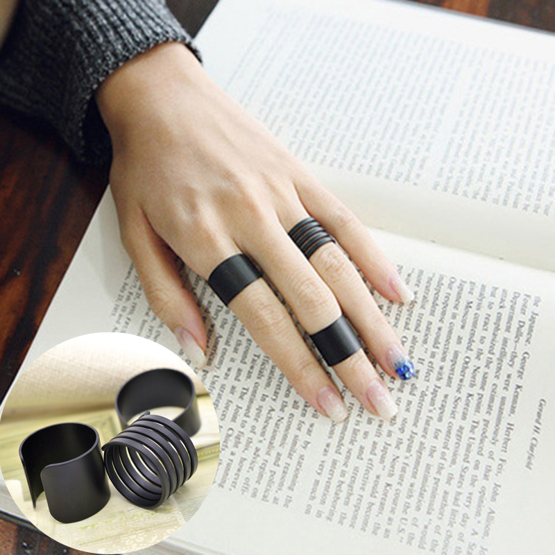 Sale 3 Pcs/Set Women Hot Trendy Black Midi adjustbale Knuckle Rings Fashion Jewelry Free Shipping