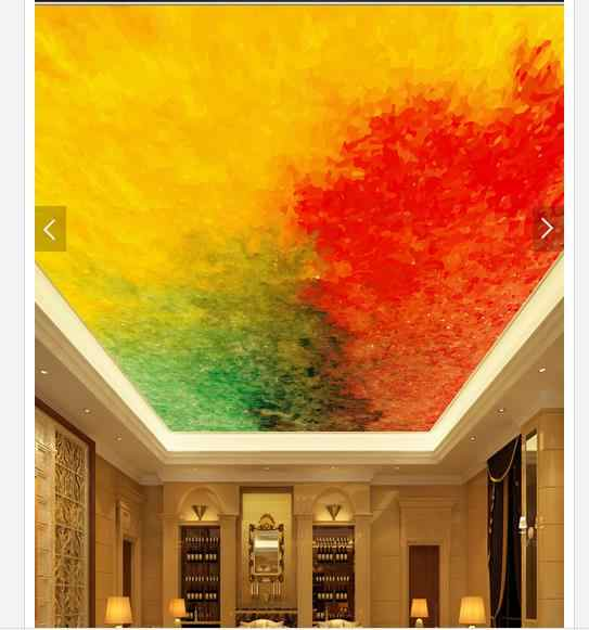 Custom 3d photo wallpaper 3d ceiling wallpaper murals color red green and yellow ceiling frescoes 3d.jpg q50