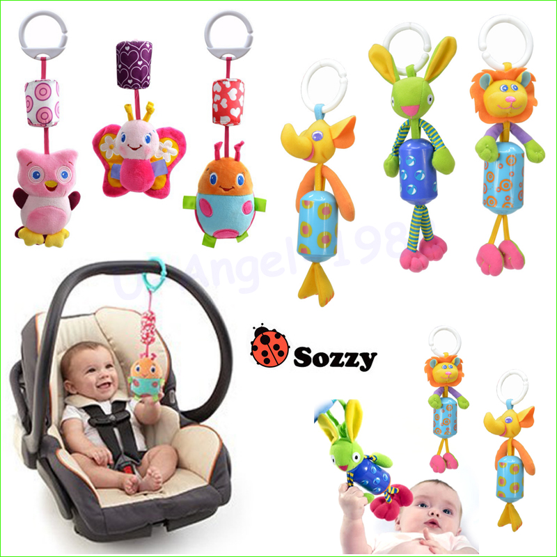 1pcs New Infant Toys Mobile Baby Plush Sozzy Bed Wind Chimes Rattles Bell Toy Stroller for Newborn Wholesale