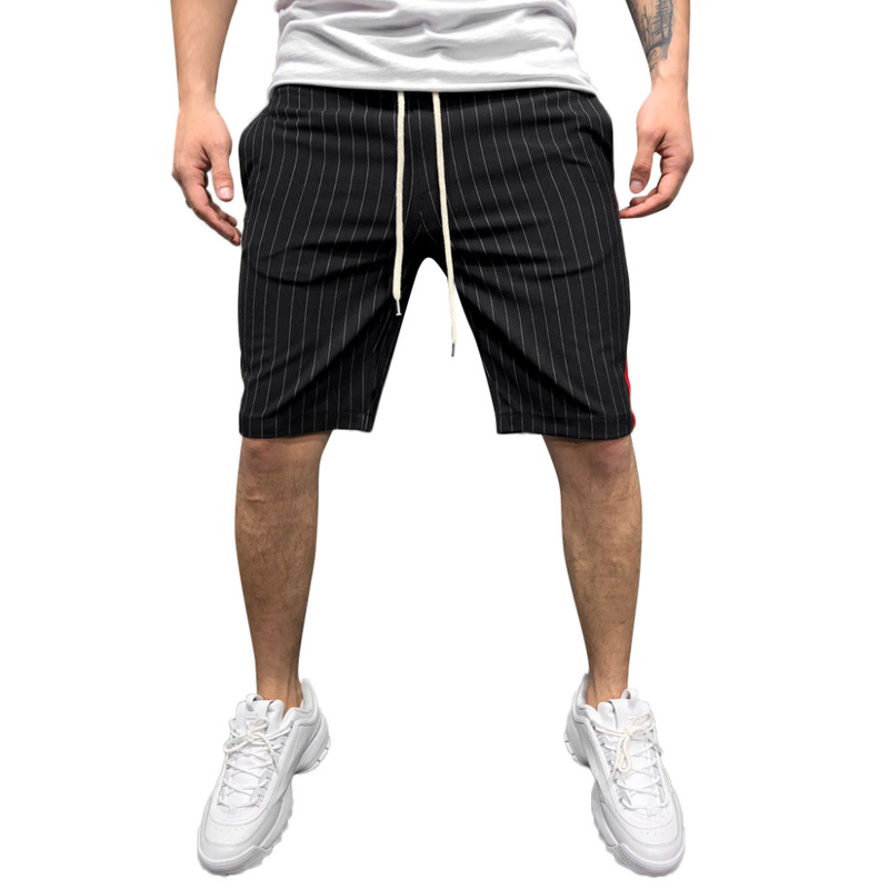 Zogaa 2019 Joggers Striped Patchwork Pocket Drawstring Trouser Casual Loose Work Shorts Man Dry Fit Mesh Shorts Fitness Clothing