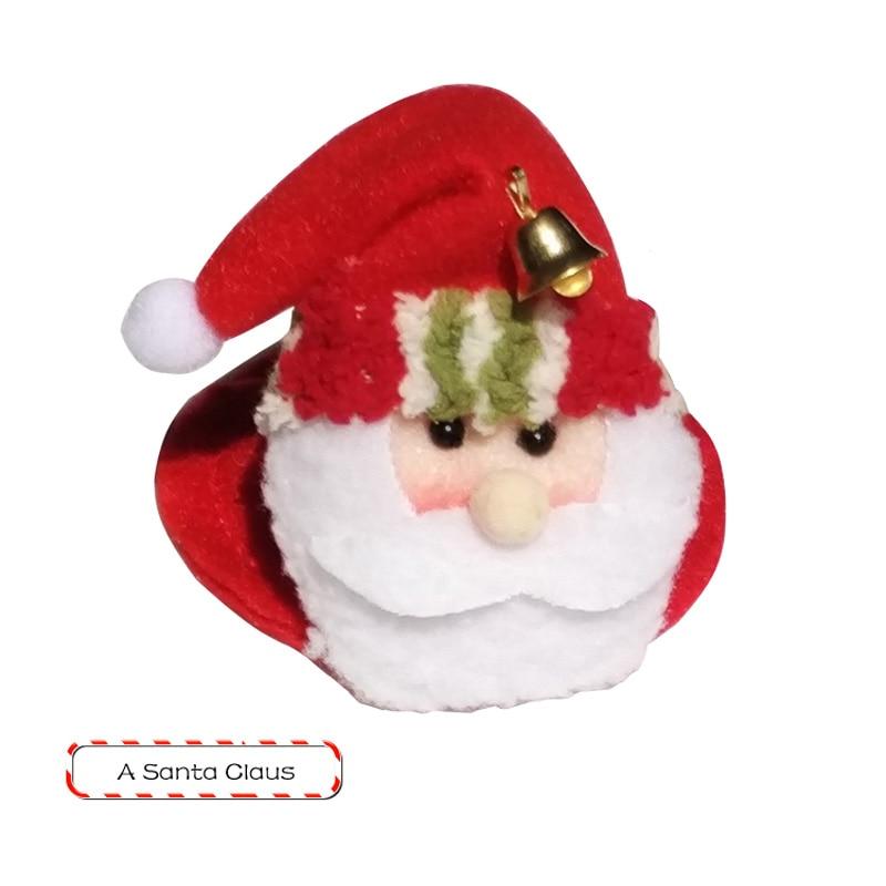 1 STKS Kerstfeest Ronde Onderzetters Kerstman Cup Mat Kerst Wijnfles - Feestversiering en feestartikelen - Foto 3