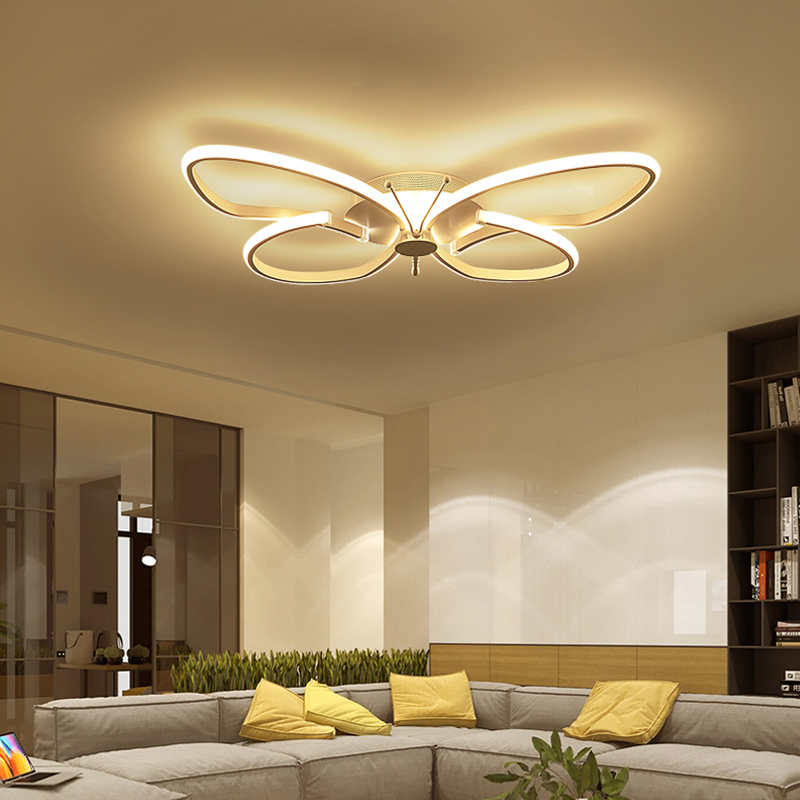 Led Butterfly Ceiling Light Modern Bedroom Warm And