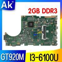 Laptop motherboard para For Asus X756U X756UJ X756UWK X756UX X756UJ X756UB X756UV mainboard I3-6100U GT920M/2GB DDR3 slot de Memória