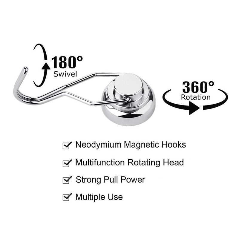Crochets magnétiques pivotants | Crochets magnétiques puissants et lourds, crochets magnétiques en néodyme pour réfrigérateur AI88