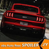 For FORD Mustang Spoiler 2015 2018 Mustang GT spoiler Led ligh High Quality ABS Material Car Rear Wing Primer Color Rear Spoiler