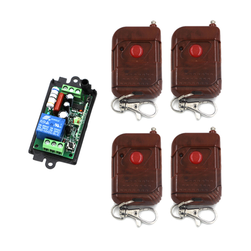 AC220V 110V 1 Channel Way Wireless Remote Control Switch Relay Output Jog/inter-lock /self-lock CAR LED LIGHT Lamp Door 4180