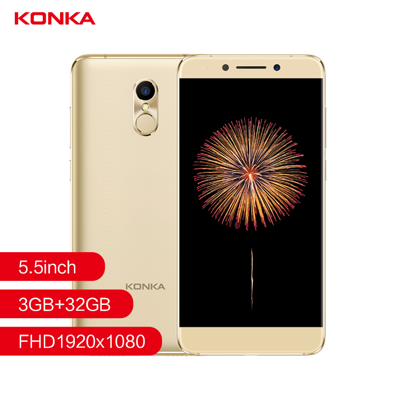 Konka 711  Fingerprint 4G Smart phone camera 13.0MP Front camera 5.5inch  1080P FHD MTK6737 Quad Core 3000mAh mobile phones