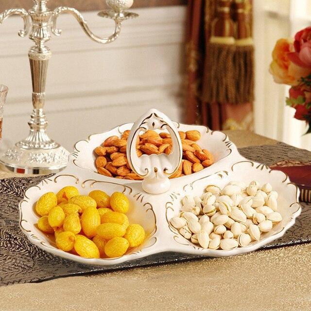 Europe creative ceramic dried fruit Candy Storage dish Dessert Snack ...