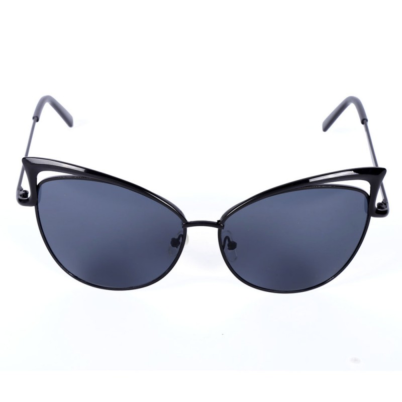 Women Metal Frame Sexy Cat Eye Sunglasses Coating Vintage Sun Glasses Female Oculos de grau Femininos
