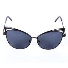 Marco de metal mujeres sexy cat eye sunglasses uv400 recubrimiento vintage gafas de sol mujer gafas de grau femininos ly6