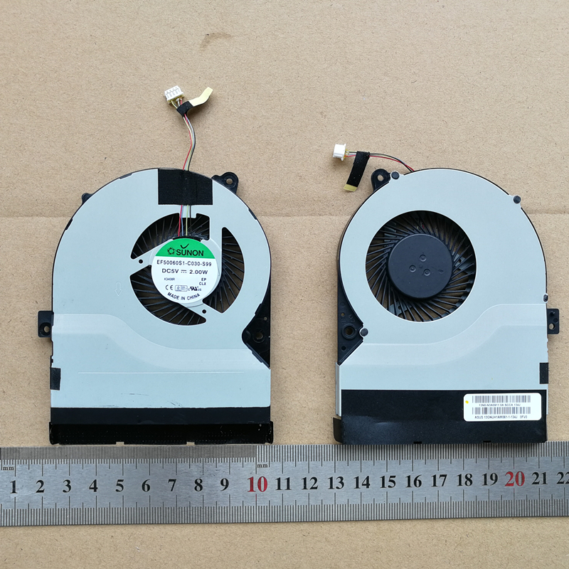 New laptop cpu cooling fan for ASUS K56 K56C K56CA K56X K56CM K56CB S56C S550 S550C S550CM R505C SUNON EF50060S1-C030-S99 4PIN
