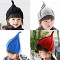 10pcs free shipping/2016-201 hot Pointy  windmills hat winter kids  knitted hat  fashion warm head cap boy gril  children  cap