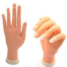 wholesale 100pcs soft False Finger Practice Artificial Flexible nail art trainning Model Hand Fake Adjustable movable soft hand