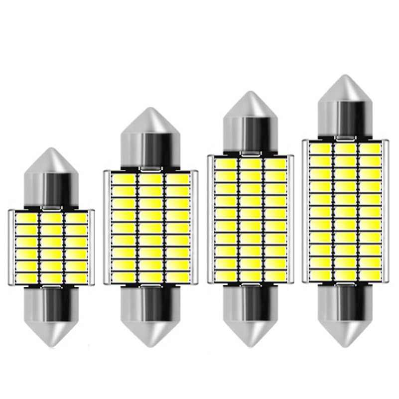 31mm 36mm 39mm 41mm C5W C10W 18 27 30 33 SMD 4014 LED Festoon Light CANBUS NO ERROR Auto Interior Dome lamp Car Reading Bulb