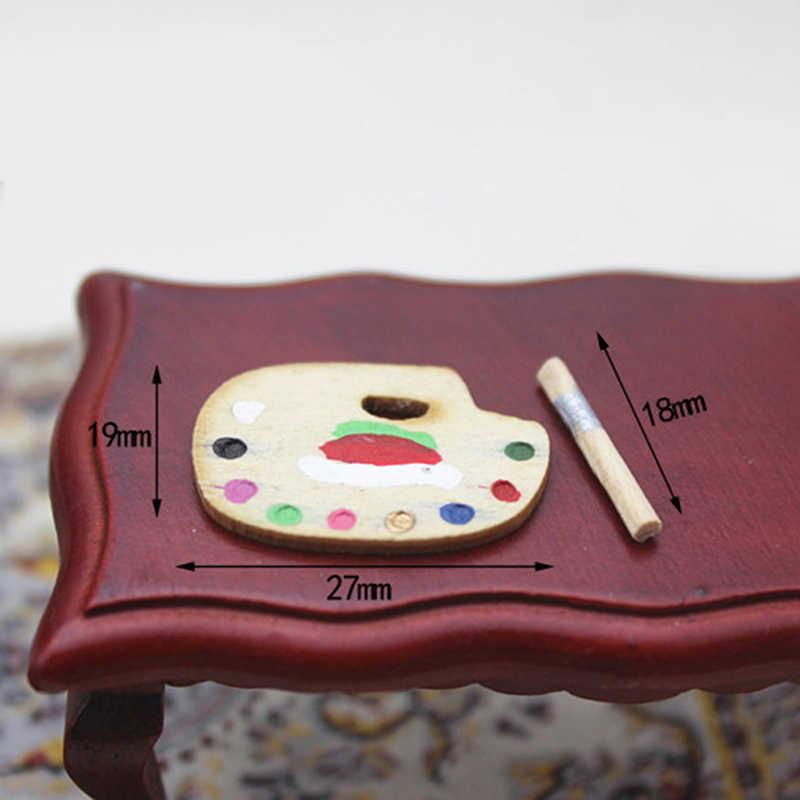 1/12 масштаб мини кукольный домик мебель кукла Выпускной куклы проект дом Миниатюрный цвет модель палитры набор