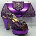 Zapatos y la Bolsa para Las Mujeres de Verano de Estilo Africano de lujo Zapatos y la Bolsa de Italia Zapatos Italianos y Bolso A Juego de Alta Calidad conjunto