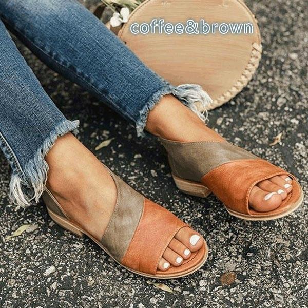 Oeak femmes plat d'été sandales dames gladiateur Peep Toe 2019 nouvelle mode plate-forme chaussures grande taille décontracté chaussures 35-43 10