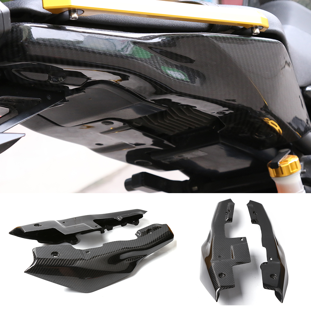 Motorcycle Accessories Carbon Fiber Rear Tail Side Panel Cowling Fairing Cover Protector For Yamaha MT-09 FZ-09 MT09 FZ09 14-17 yandex w205 amg style carbon fiber rear spoiler for benz w205 c200 c250 c300 c350 4door 2015 2016 2017