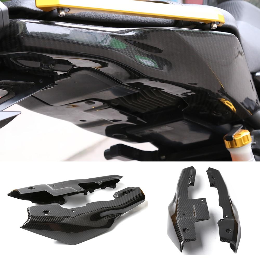 Аксессуары для мотоциклов из углеродного волокна задний хвост боковина обтекатель обтекатель Обложка протектор для YAMAHA МТ-09 MT09 FZ09 ФЗ-09 14-17
