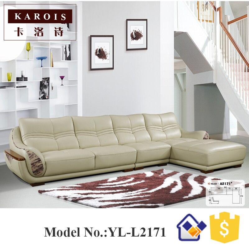 Spezifische Einsatz Wohnzimmer Ecke Billigen Luxus Plaid Holz Ledersofa Divano Sofas Cuero